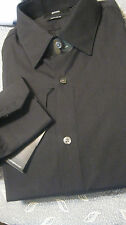 NWT HUGO BOSS REGULAR FIT YR ROUND COTTON SHIRT CLASSIC BLACK