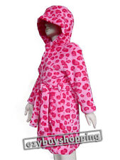 Pink Leopard Print Winter Soft Girls Dressing Gown