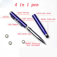 4in1 LED Laser Pointer Torch Touch Screen Stylus Ball Point Pen for iPhone iPad