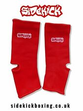 Sidekick Red Elastic Kickboxing MMA Muay Thai Ankle Supports Protection Support