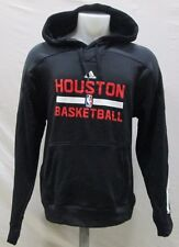 Houston Rockets Men's Pullover On-Court Climawarm Hoodie NBA adidas Black A8TRM