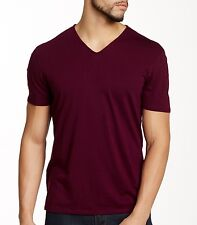 John Varvatos Star USA Men's Short Sleeve V Neck T-Shirt Oxblood $90 msrp NWT