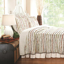 Greenland Home Bella Ruffle Quilt & Sham Set, Twin, Full/Queen Or King