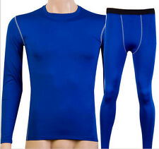 Mens Thermal Compression Base Layer Tights Fitness Under Skins Tops Shirts&Pants