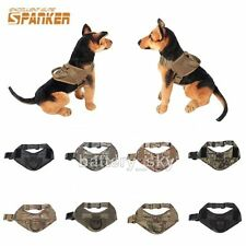 Nylon Tactical K9 Police Working Service Dog Vest Harness with Handle knob S/L