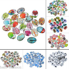 20x Glass Mix 18mmx13mm Oval Dome Cameo Cabochon for Jewellery&Model Making