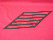 US Navy - EM Hashmarks - Male - 5 stripes (20 Years) Red Embroidered  5 1/4""