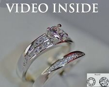 1.20 CT Round cut Diamond Solitaire Engagement Ring Solid In Sterling Silver