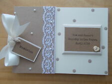Personalised Holiday Honeymoon Scrapbook Memory Book Gift QUICK POSTAGE