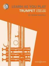 NEW Learn As You Play Trumpet, Cornet and Flugelhorn by Peter Wastall Book & Mer