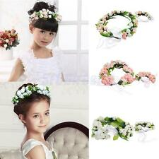 Flower Garland Floral Bridal Headband Hairband Wedding Party Festival Wrist Band