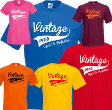 Vintage 50th Birthday T-shirt Tee Any Year 1966 1967 1968 Present Gift S-5XL
