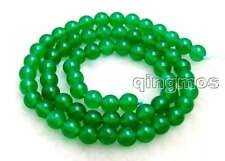 """SALE High quality small 6mm Round green jade gemstone beads strands 15""""-los651"""