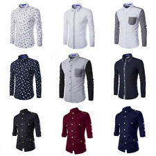 Hot Sale Mens Long Sleeves Luxury Casual Formal Slim Fit Stylish Dress Shirts