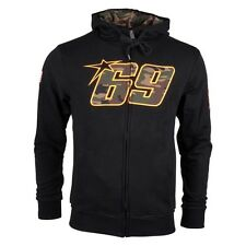 New Official Nicky Hayden 69 Camoflague Black Hoodie - 14 24001