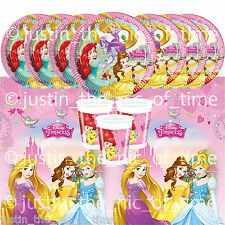 DISNEY PRINCESS Girls Birthday Party Tableware Plates Cups Napkins Tablecover