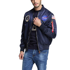 US NASA MA1 Flight Bomber Jacket Baseball Coat XS-2XL Thin Coat Jacket