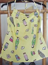 GIRLS YELLOW HALTERNECK TOP WITH ORIENTAL THEME PRINT FROM MOTEL BNWT