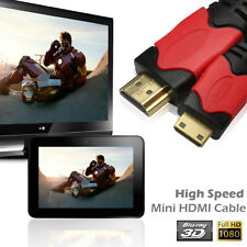 New For HDTV PC DC Mini HDMI(Type C) Male to HDMI(Type A) Male 6FT 10FT Cable 3D