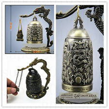 Sculpture & Carvings Bell! Excellent CHINA Tibet Brass Dragon buddha Bell gift