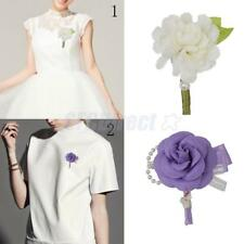 Fashion Punk Tuxedo Boutonniere Style Collar Corsage Pin Brooch for Women