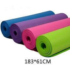 10mm Thick Non-slip Durable Yoga Mat Pad Fitness Practice Dance Yoga Exercise HQ
