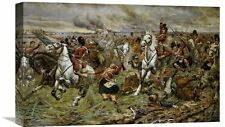 'Incident at Waterloo' by Stanley Berkeley Painting Print on Wrapped Canvas
