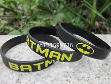 Batman silicone rubber printed colour custom wristband bracelet band