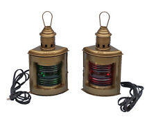 Handcrafted Nautical Decor Port and Starboard Electric Lantern Set of 2