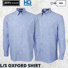 Mens Long Sleeves Formal Classic Corporate Oxford Shirt S M L XL 2XL 3XL 4XL New