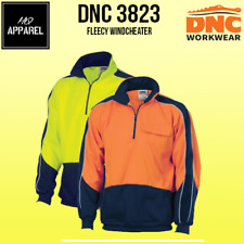HiVis 2 Tone 1/2 Zip Hi-Neck Panel Fleecy Windcheater Brand New 3823 dnc