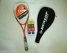 NEW DUNLOP BLAZE 50 SQUASH RACQUET AND TWO DUNLOP SQUASH BALLS RRP $99