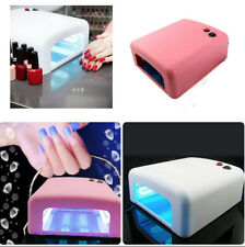 New Pink BABZ 36W UV Lamp Gel Polish Curing Nail Art Dryer With Timer & 4 Bulbs