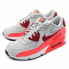 Nike Wmns Womens Air Max 90 Essential Grey Red Orange Running Shoe DS 616730-028