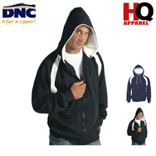 Mens Contrast Panel Fleecy Top with Hood Brand New Clothes 5421 dnc