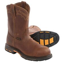 Ariat Workhog Pull-On Leather Work Boots Sz 9 & 13 WIDE EE - ATS Max 10001185 EH