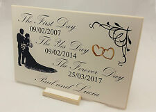 Gift Idea for Couple Personalised Wedding Sign Engagement/Anniversary Plaque B46