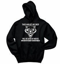 Those Who Act Like Sheep Eaten By Wolves Crewneck Hooded Sweatshirt Guns Hoodie