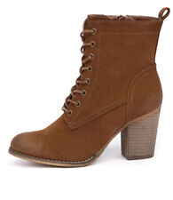 New Therapy Florence Tan Women Shoes Casuals Boots Ankle Boots