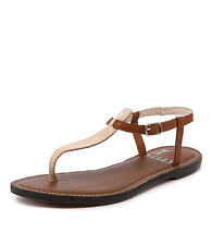 New I Love Billy Spoon Nude/Tan Leather Women Shoes Casuals Sandals Flats