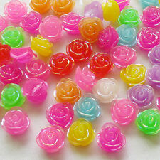 10/50pcs Rose Resin Flatbacks Craft Scrapbooking Baby Doll