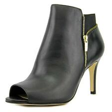 Marc Fisher Serenity Women W Peep-Toe Leather Black Ankle Boot