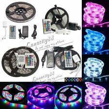 3528 5050 5630 SMD 5M 300leds Flexible Strip Light + Remote + Power Supply + DC