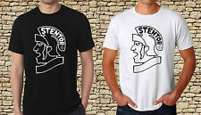 Black T-Shirt Stentor Violin Logo Mens Black TShirt White T-Shirt S to 3XL