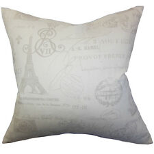 The Pillow Collection Geva Typography Bedding Sham