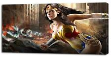 4 Sizes - Wonder Woman DC CANVAS PRINT Home Wall Decor Art Movie Giclee Comics