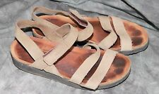 Womens NAOT Beige Taupe Leather Slingback Sandals 39 8.5 US