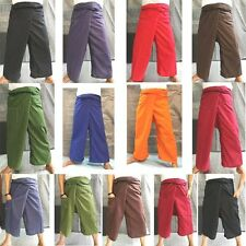 Cotton Thai Fisherman Wrap Pants Yoga Spa Massage Trousers Long Wrap Unisex