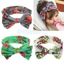 Baby Girls Toddlers Floral Flower Cotton Big Bow Hair band Headband Accessories