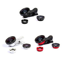 Fish Eye Lens + Wide Angle + Macro Lens Camera Kit 3in1 For Samsung/iPhone